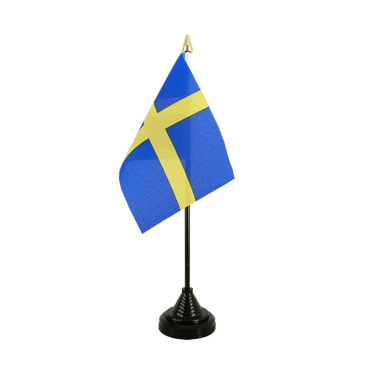 "Table Flag Sweden - 4x6"" (10 x 15 cm)"