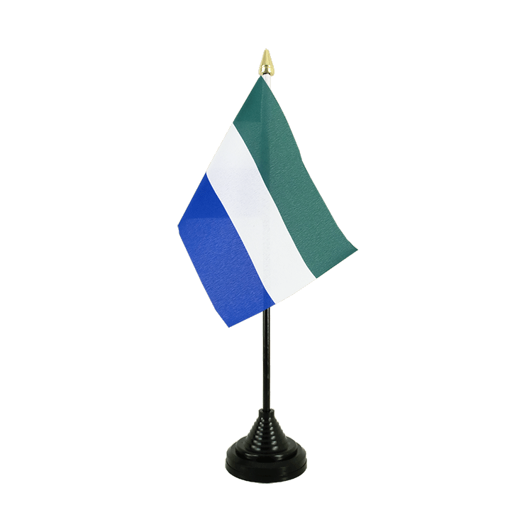 "Desk and Table Flag Sierra Leone - 4x6"" (10 x 15 cm)"