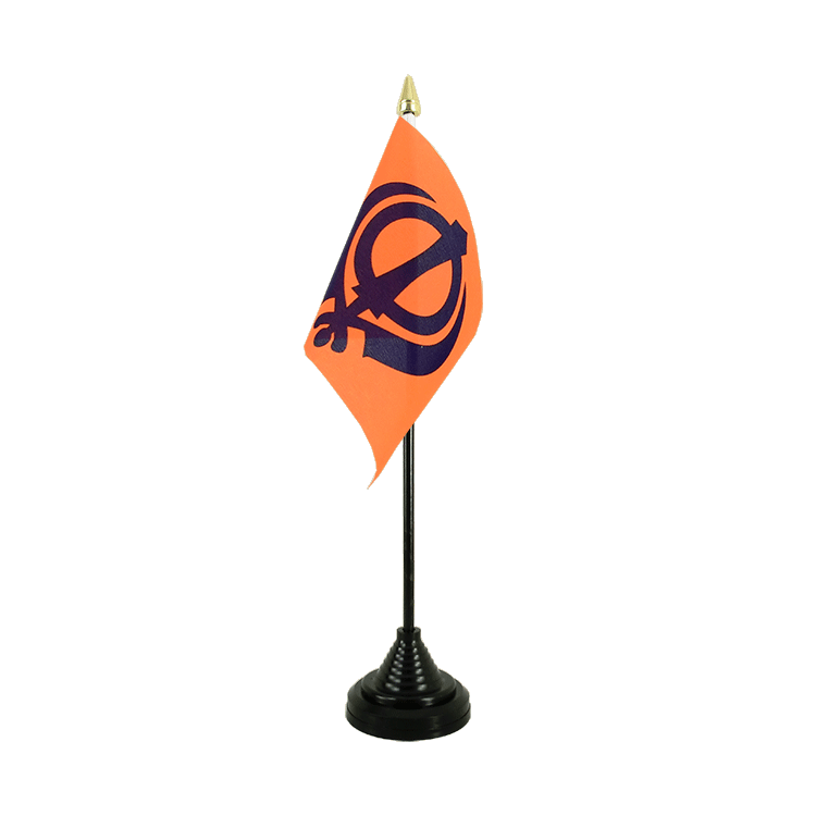 "Table Flag Sikhism - 4x6"" (10 x 15 cm)"