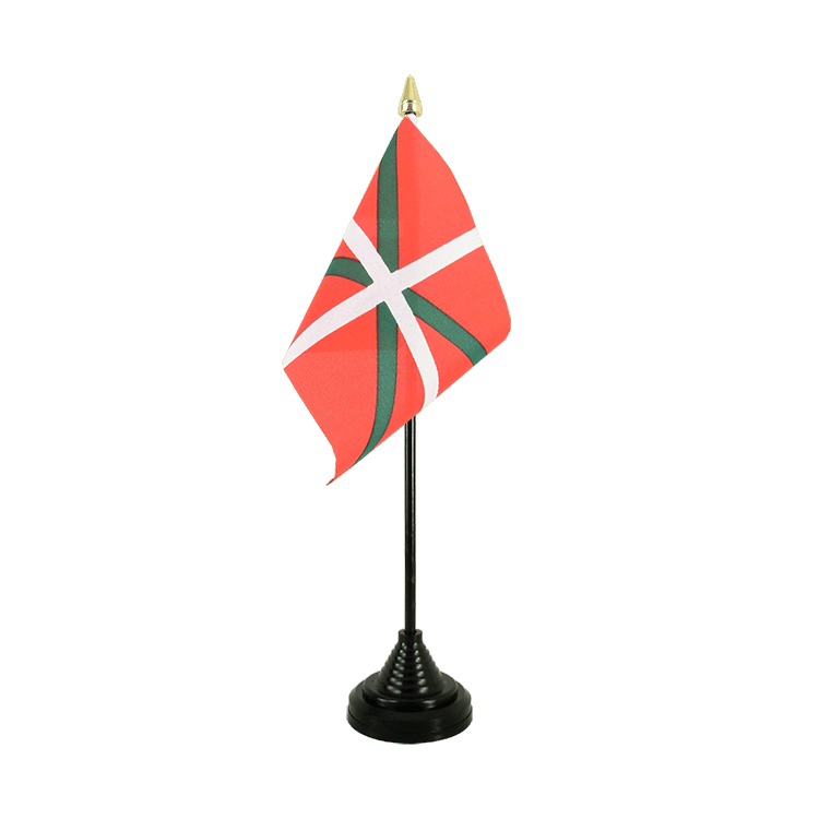 Mini drapeau de table Pays Basque 10x15 cm