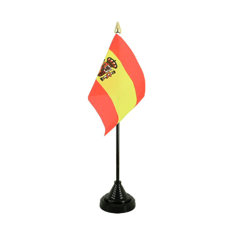 "Desk and Table Flag Spain with crest - 4x6"" (10 x 15 cm)"