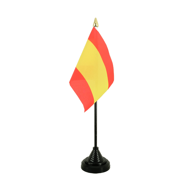 "Table Flag Spain without crest - 4x6"" (10 x 15 cm)"