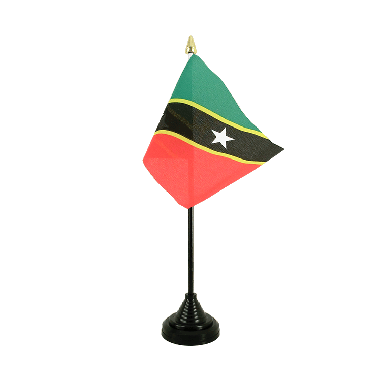 Mini drapeau de table Saint-Kitts-et-Nevis 10x15 cm