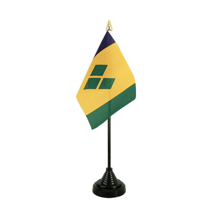 "Table Flag Saint Vincent and the Grenadines - 4x6"" (10 x 15 cm)"