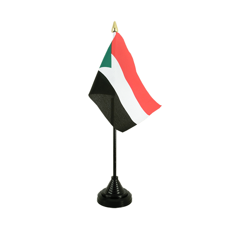 "Desk and Table Flag Sudan - 4x6"" (10 x 15 cm)"