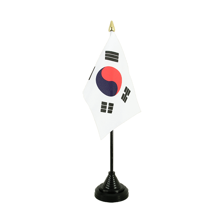 "Table Flag South Korea - 4x6"" (10 x 15 cm)"
