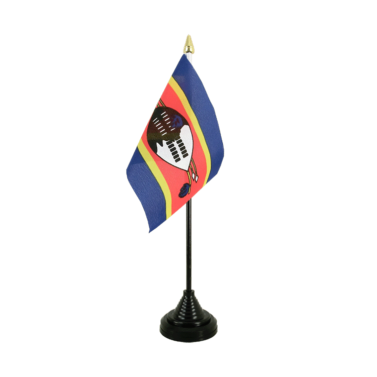 Mini drapeau de table Swaziland 10x15 cm
