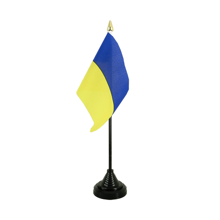 "Desk and Table Flag Ukraine - 4x6"" (10 x 15 cm)"