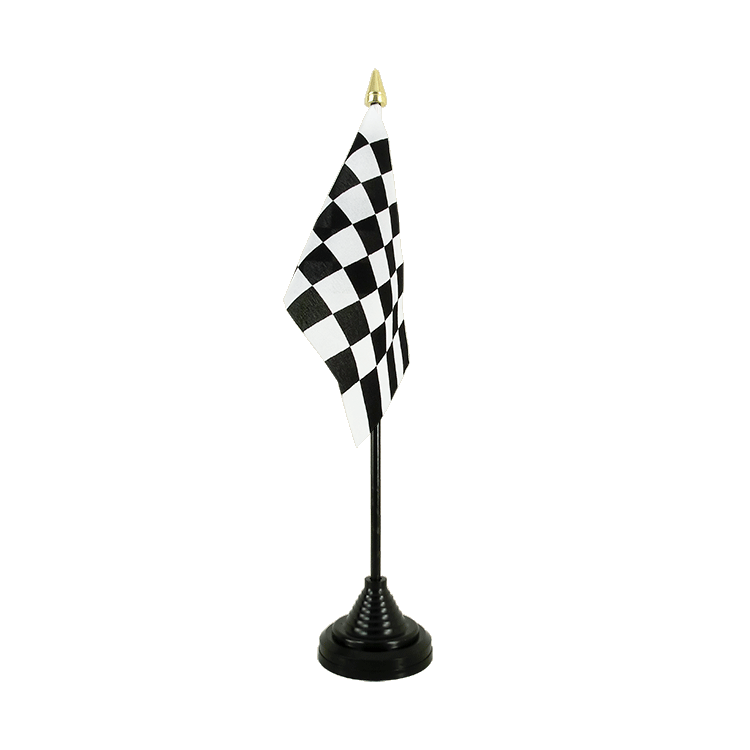 "Table Flag Checkered - 4x6"" (10 x 15 cm)"