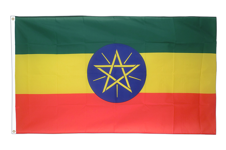 Cheap Flag Ethiopia with star - 2x3 ft