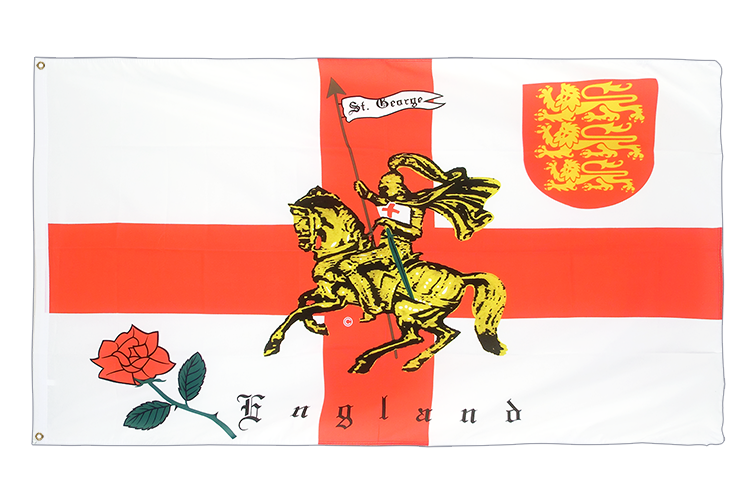 Cheap Flag England with knight - 2x3 ft