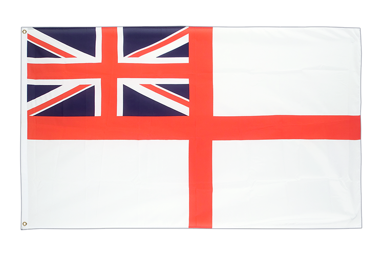 Cheap Flag Naval Ensign of the White Squadron - 2x3 ft
