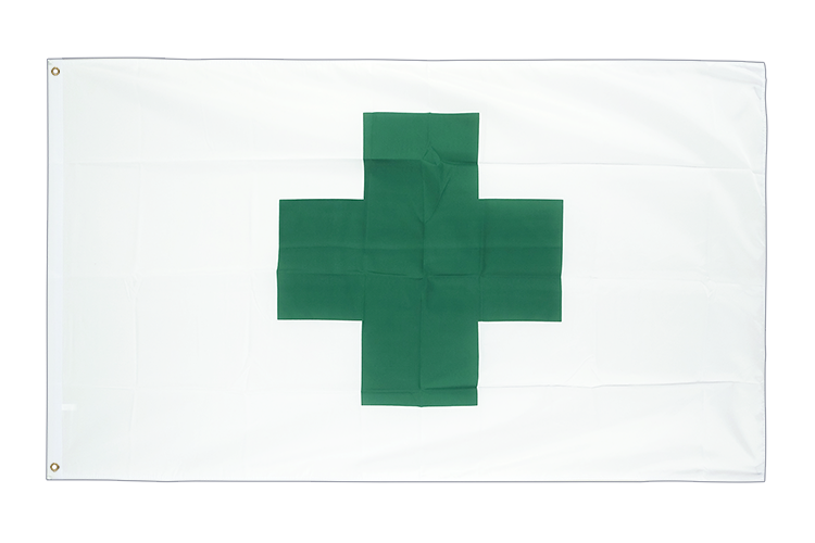 Cheap Flag Green Cross - 2x3 ft
