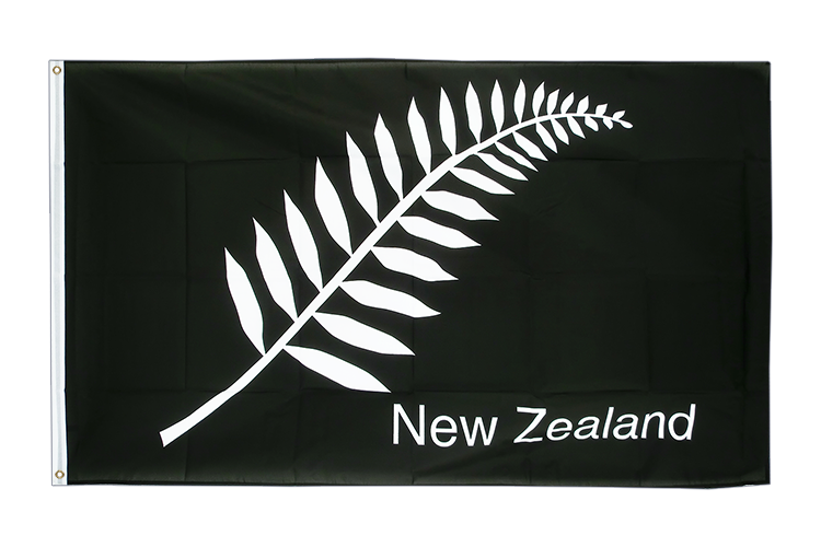 Cheap Flag New Zealand feather all blacks - 2x3 ft