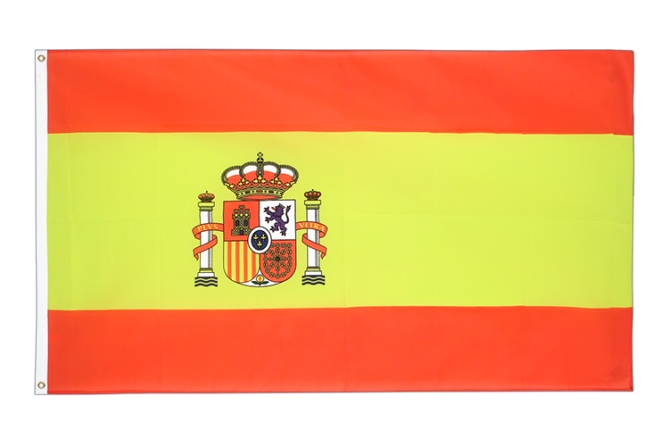 Cheap Flag Spain with crest - 2x3 ft