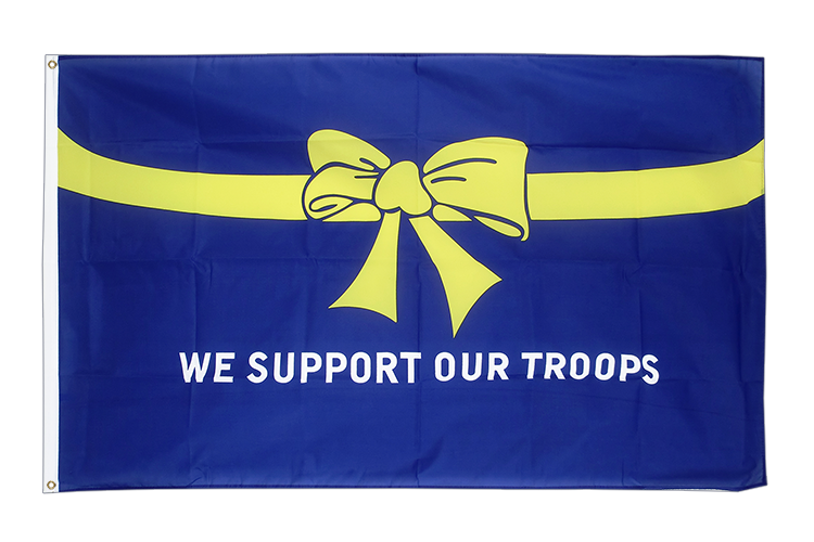 Günstige Flagge USA We support our troops - 60 x 90 cm