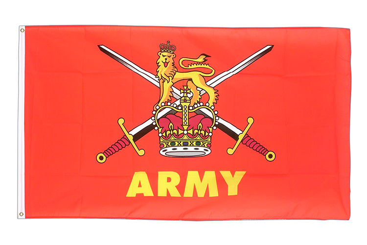 Large Flag British Army - 5x8 ft (big and giant)