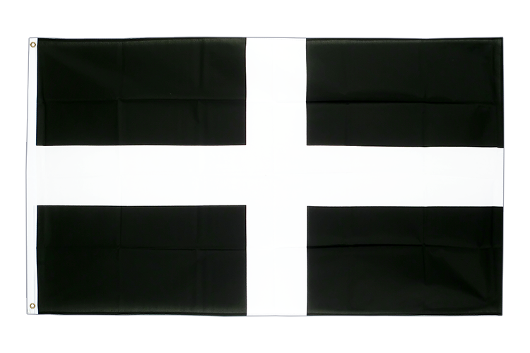 Grand drapeau Saint Piran (St. Piran Cornwall) -
