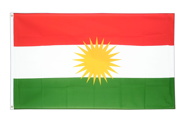 Large Flag Kurdistan - 5x8 ft (big and giant)