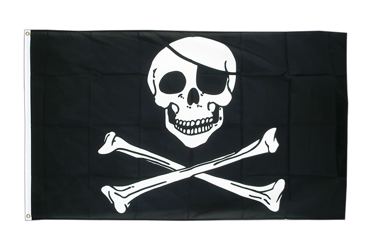 Pirat Skull and Bones - Flagge 150 x 250 cm, groß