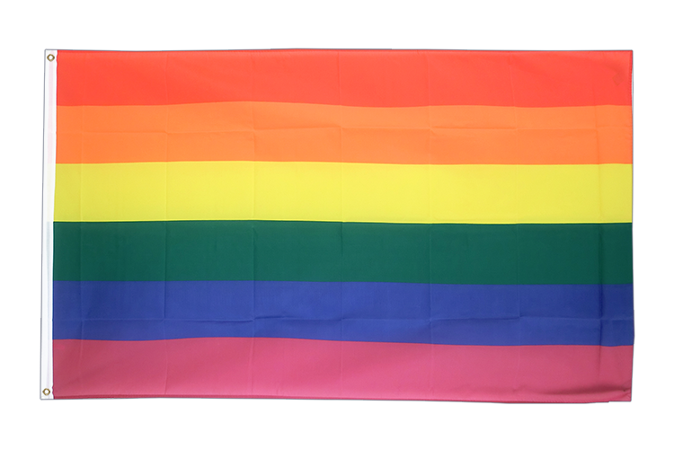Large Flag Rainbow - 5x8 ft (big and giant)