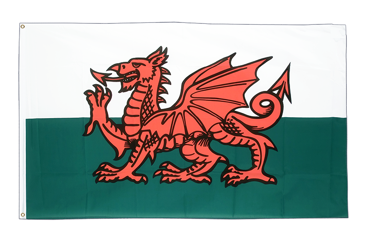 Large Wales Flag 5x8 ft (big and giant)