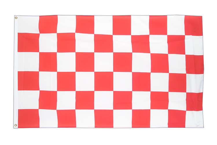Large Flag Checkered Red-White - 5x8 ft