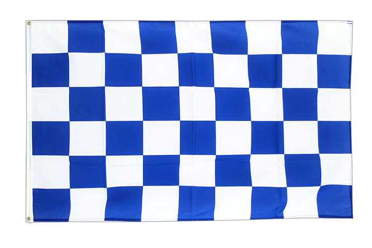 Cheap Flag Checkered blue-white - 2x3 ft