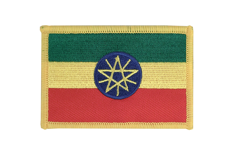 Flag Patch Ethiopia with star