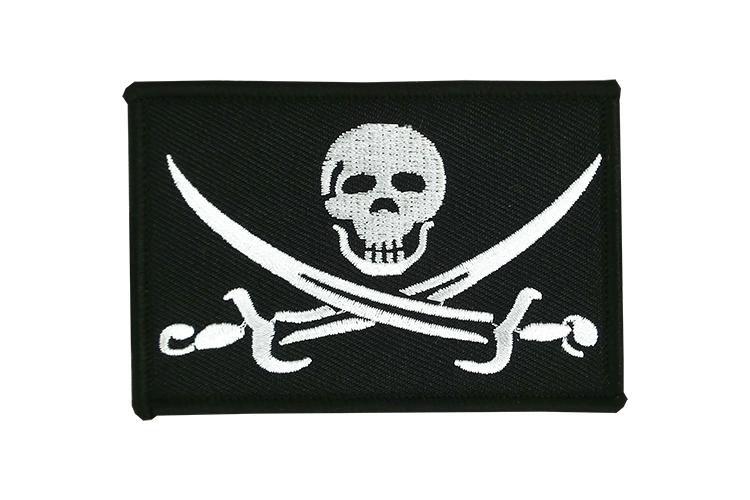 Flag Patch Pirate with sabre