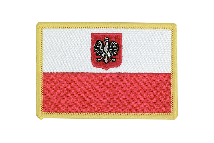 Flag Patch Poland with eagle