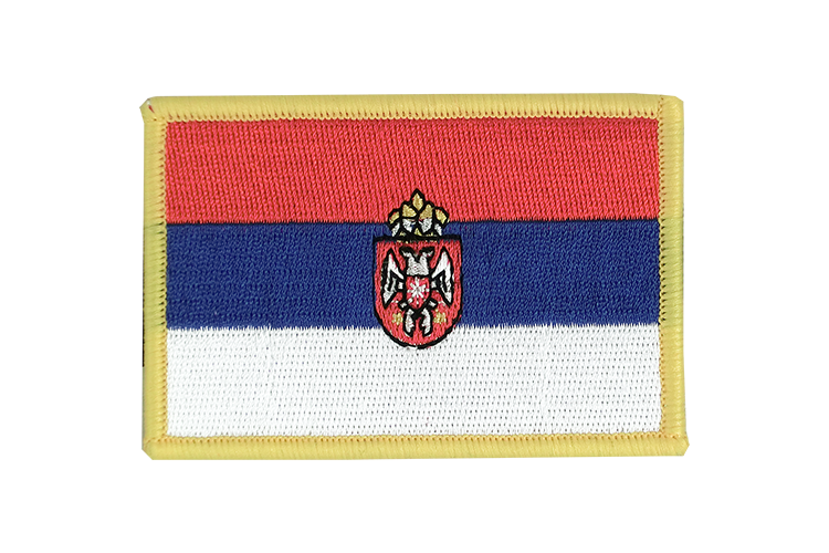 Flag Patch Serbia with crest