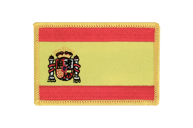 Flag Patch Spain with crest
