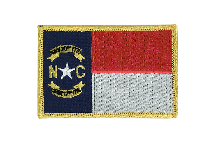 North Carolina - Flaggen Aufnäher 6 x 8 cm