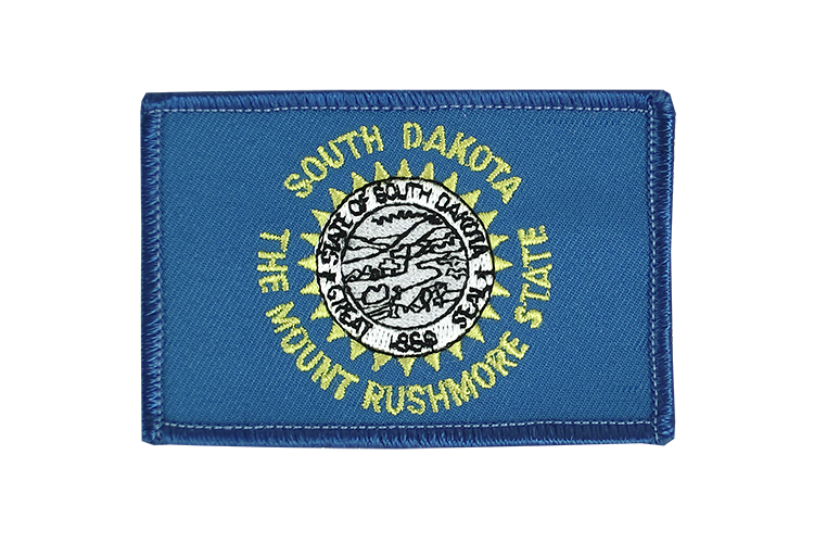 Aufnäher South Dakota Flagge - 6 x 8 cm