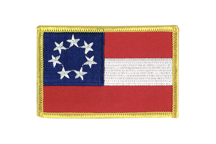 Flag Patch USA Southern United States Stars and Bars 1861