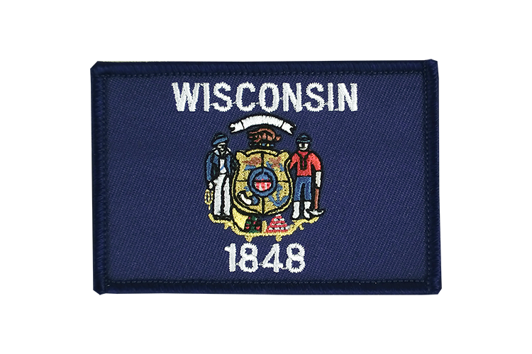 Flag Patch Wisconsin