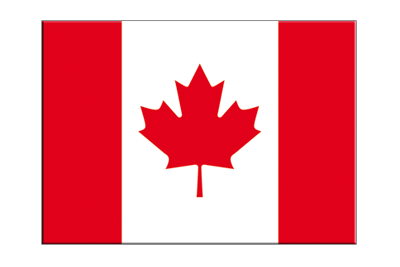 "Canada - Flag Sticker 3x4"", 5 pcs"