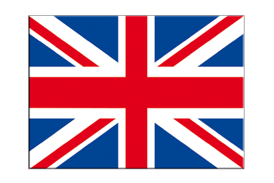 "Great Britain - Flag Sticker 3x4"", 5 pcs"