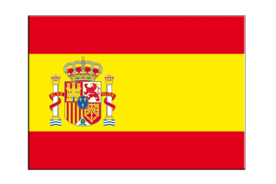 "Spain with crest - Flag Sticker 3x4"", 5 pcs"