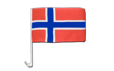 Car Flag Norway - 12x16""