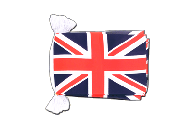 "Great Britain Flag Bunting 6x9"", 9 m"