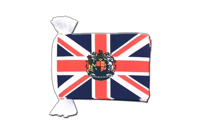 Flag Bunting Great Britain with crest - 6x9""