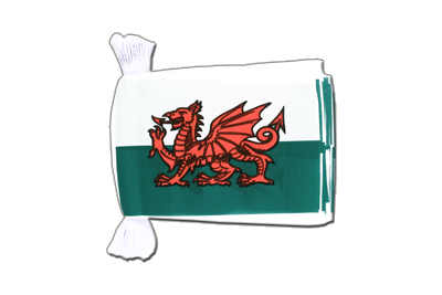 Flag Bunting Wales - 6x9""