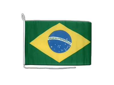 Bootsflagge/Bootsfahne Brasilien - 30 x 40 cm