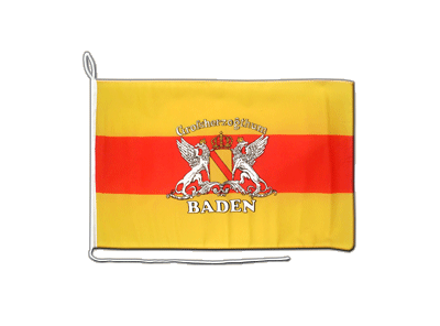 Boat Flag Baden with crest - 12x16""