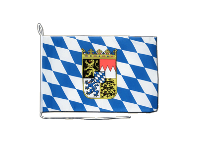 Boat Flag Bavaria with crest - 12x16""