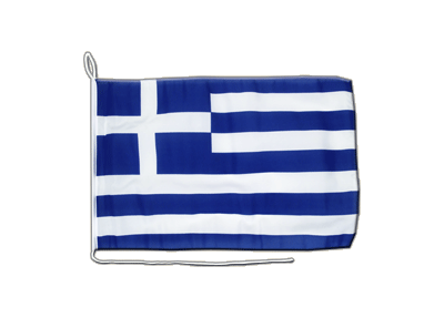 Boat Flag Greece - 12x16""