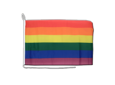 Boat Flag Rainbow - 12x16""