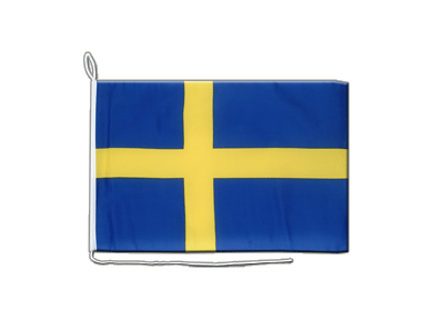 Boat Flag Sweden - 12x16""
